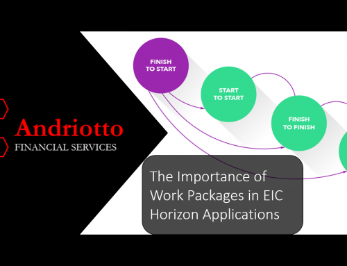 The Importance of Work Packages in EIC Horizon Applications