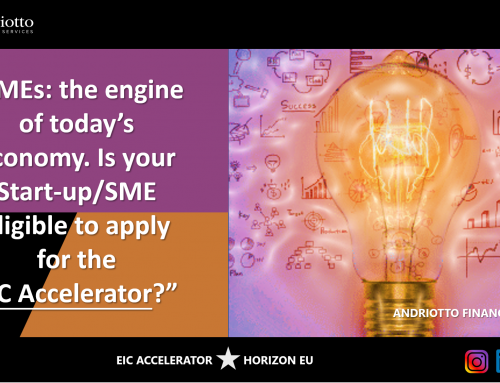 SMEs: the engine of today's economy. Is your Start-up/SME eligible to apply for the EIC Accelerator?